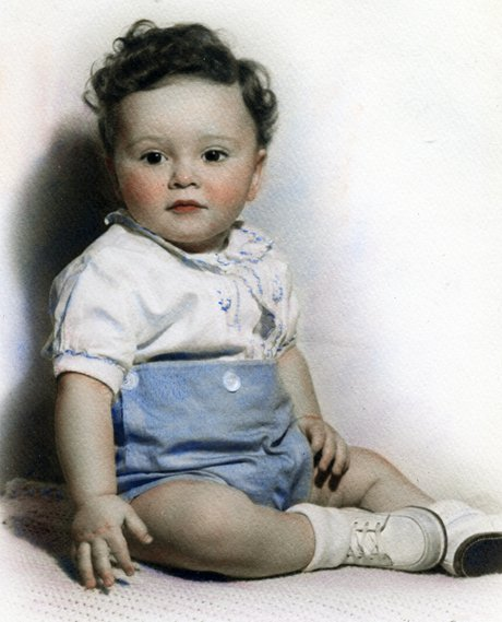 Ron as a baby